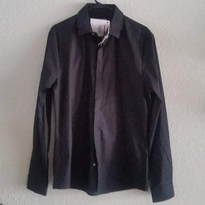 Long Sleeves Shirt w Double Collar NWT